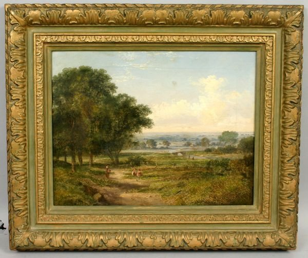 1023: 19TH CENTURY ENGLISH LANDSCAPE, OIL / CANVAS