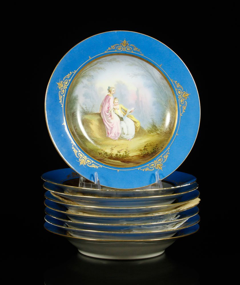 19th C. French Napoleonic Hand Painted Bowls