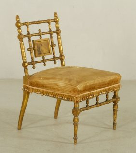 Herter Brothers Gilt Wood Chair