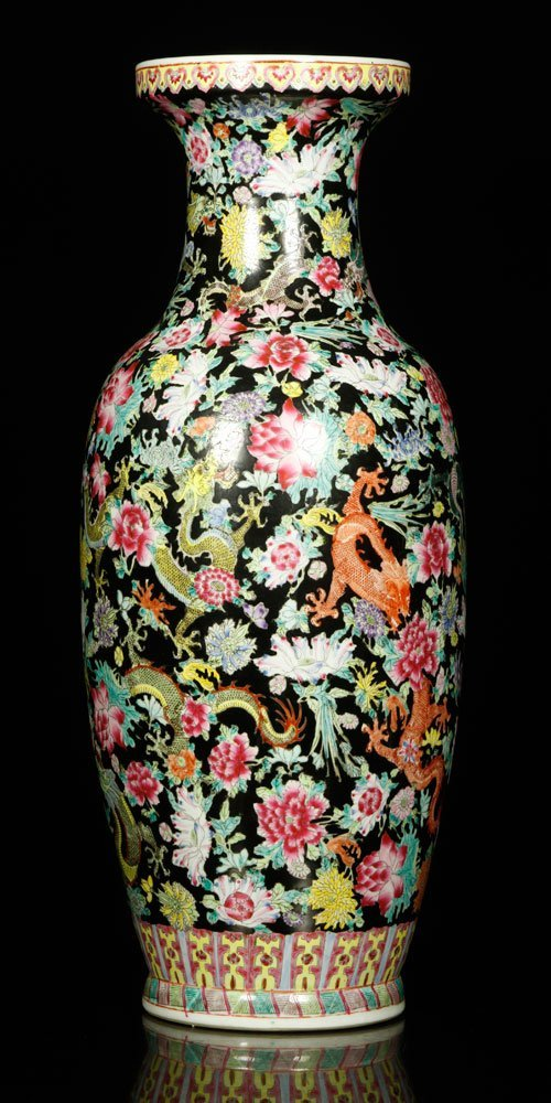 20th C. Chinese Famille Rose Vase