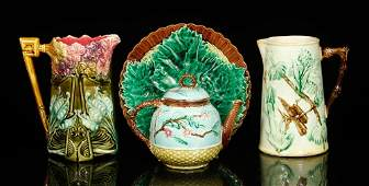 Lot of French Majolica Pottery
