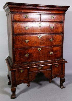 18th C. William And Mary Chest On Stand
