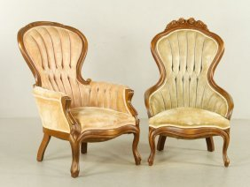2 Victorian Walnut Chairs