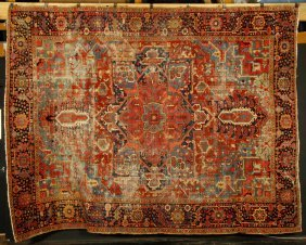 Antique Persian Serapi Or Heriz Carpet