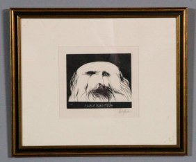 Baskin, Rabbi, Woodcut