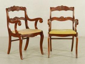 Pr. Victorian Style Armchairs