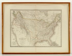 Lapie, Map Of The U.s., Engraving