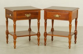 Pr. Chippendale Style End Tables