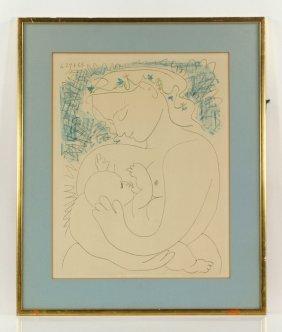 """Picasso, """"la Grande Maternite,"""" Print"""
