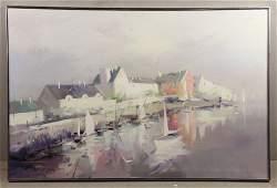 Gruppe Rockport Harbor Oil on Canvas