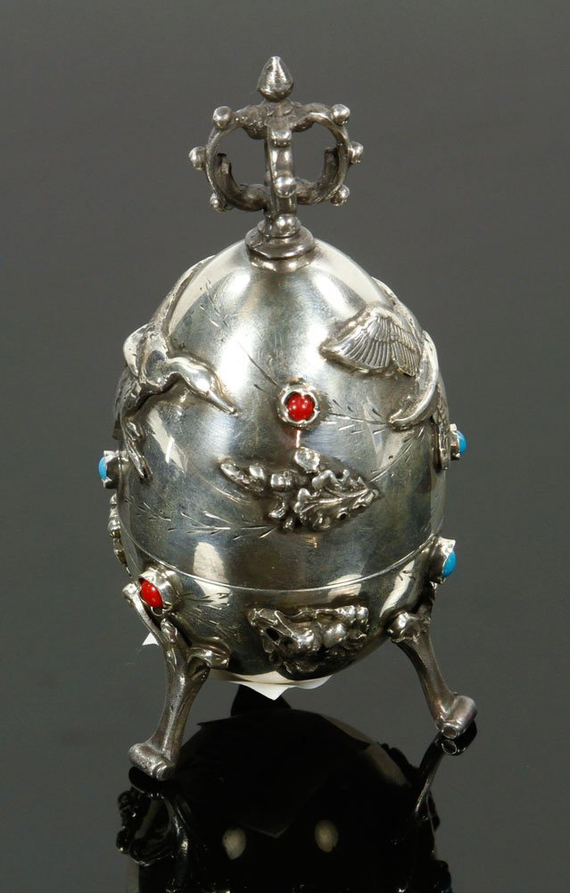 Russian Silver Hunting Egg