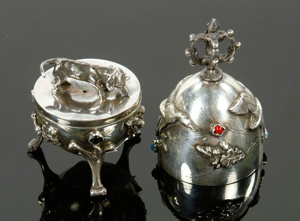 Russian Silver Hunting Egg - 4