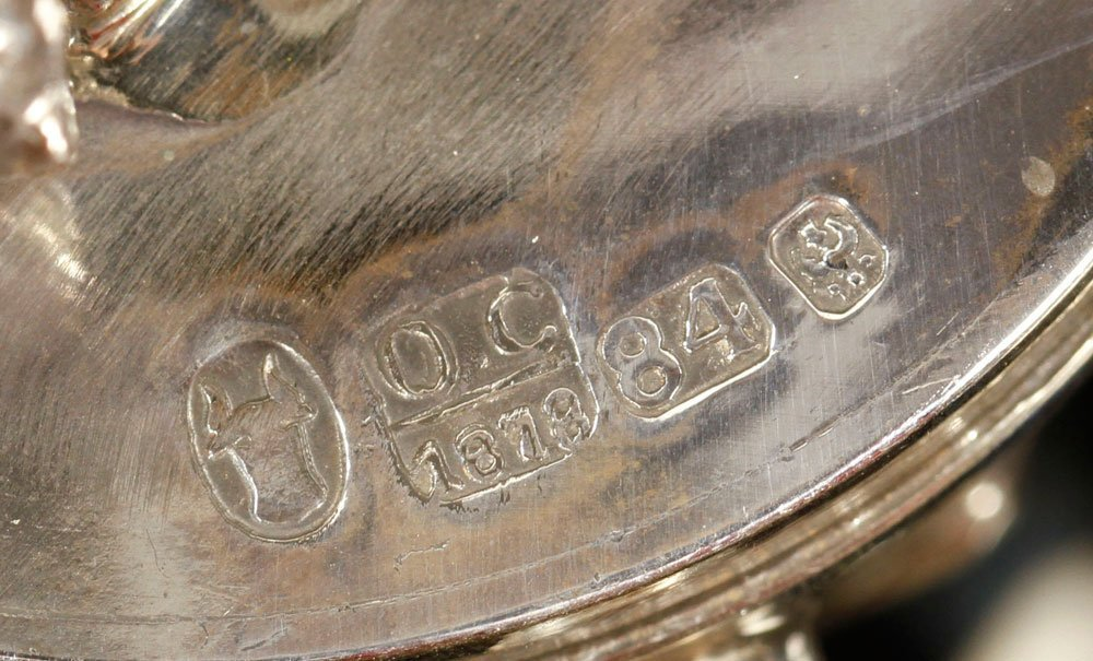 Russian Silver Hunting Egg - 5