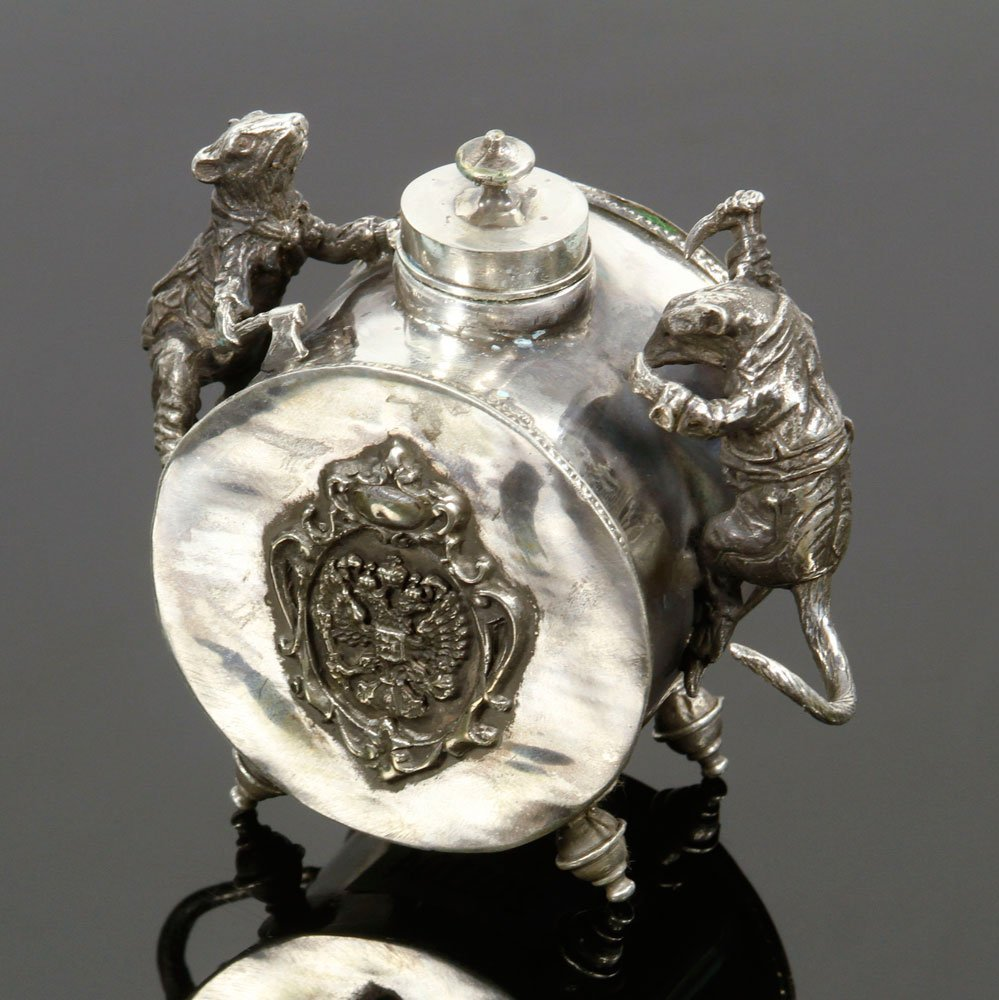 Russian Silver Inkwell