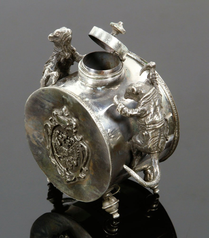 Russian Silver Inkwell - 4