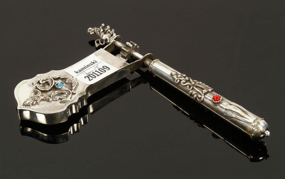 Russian Silver Judaica Grogger - 2