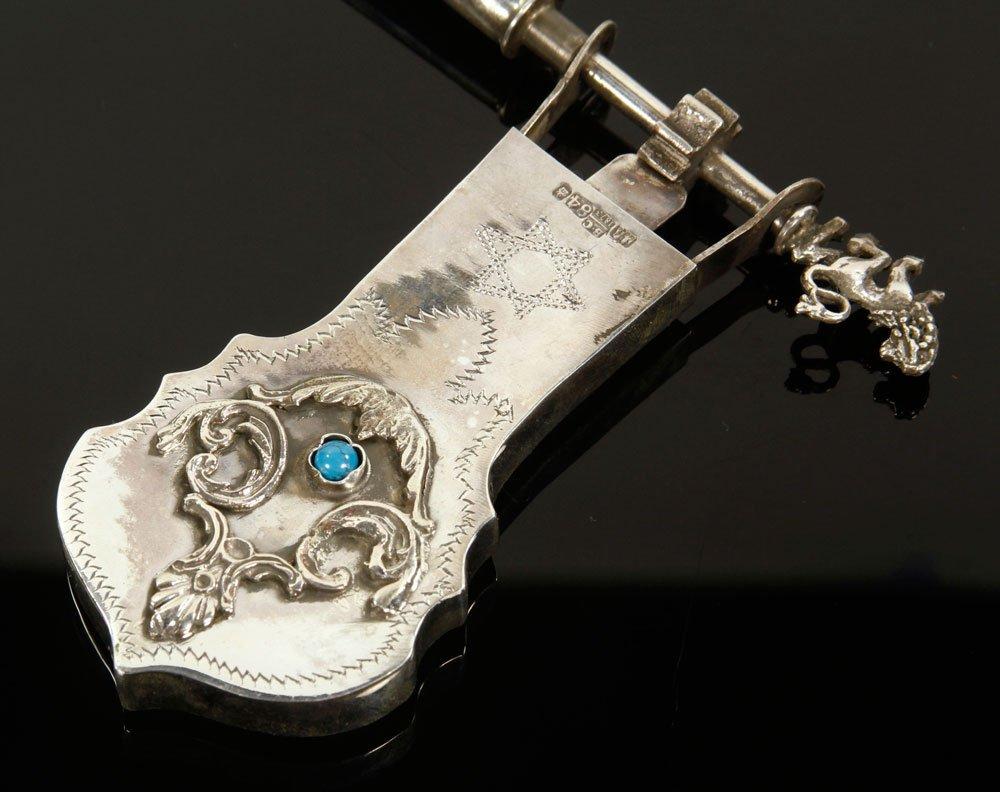 Russian Silver Judaica Grogger - 3