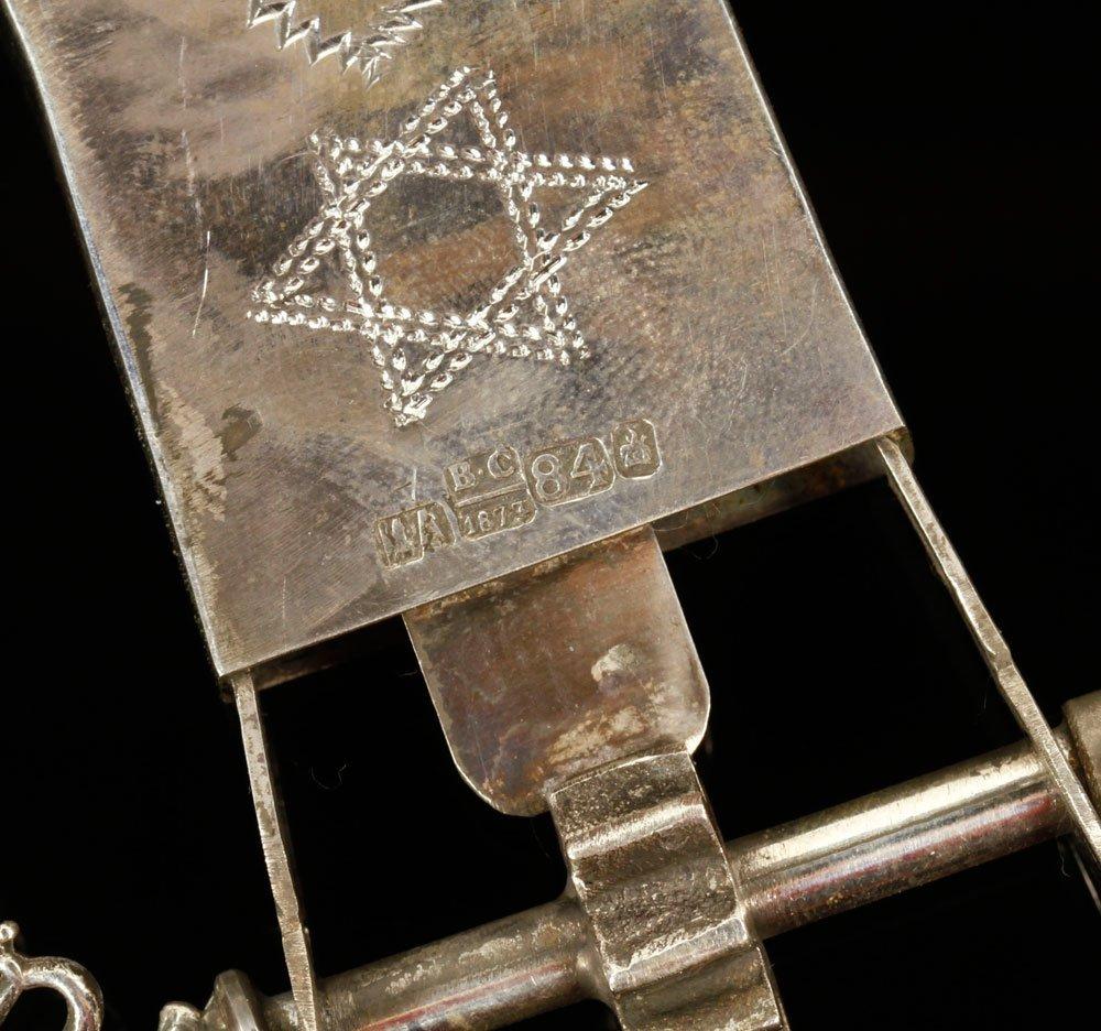 Russian Silver Judaica Grogger - 4
