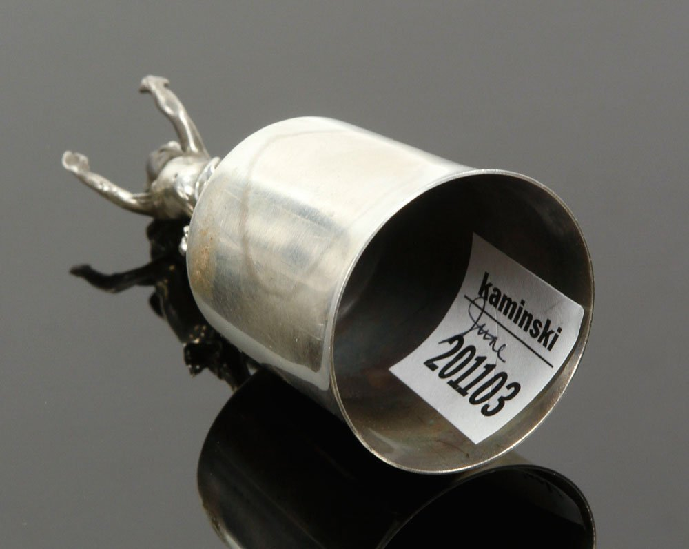 Oversized Russian Silver Vodka Cup - 3