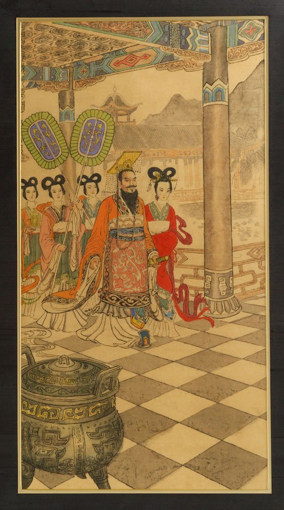 Two Chinese Imperial Watercolors - 2