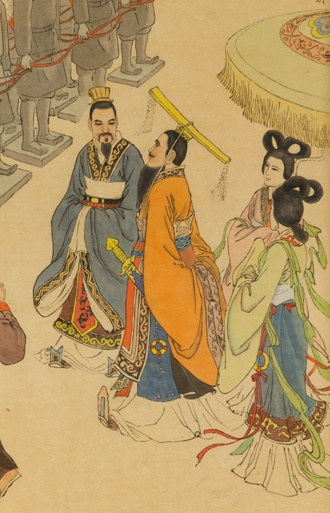 Two Chinese Imperial Watercolors - 4