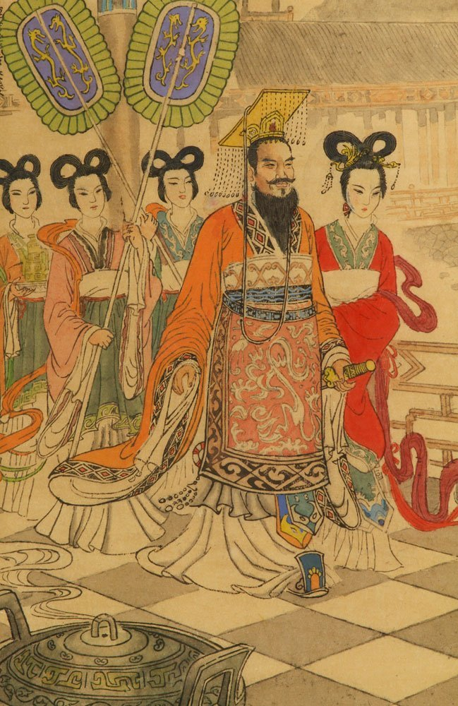Two Chinese Imperial Watercolors - 5