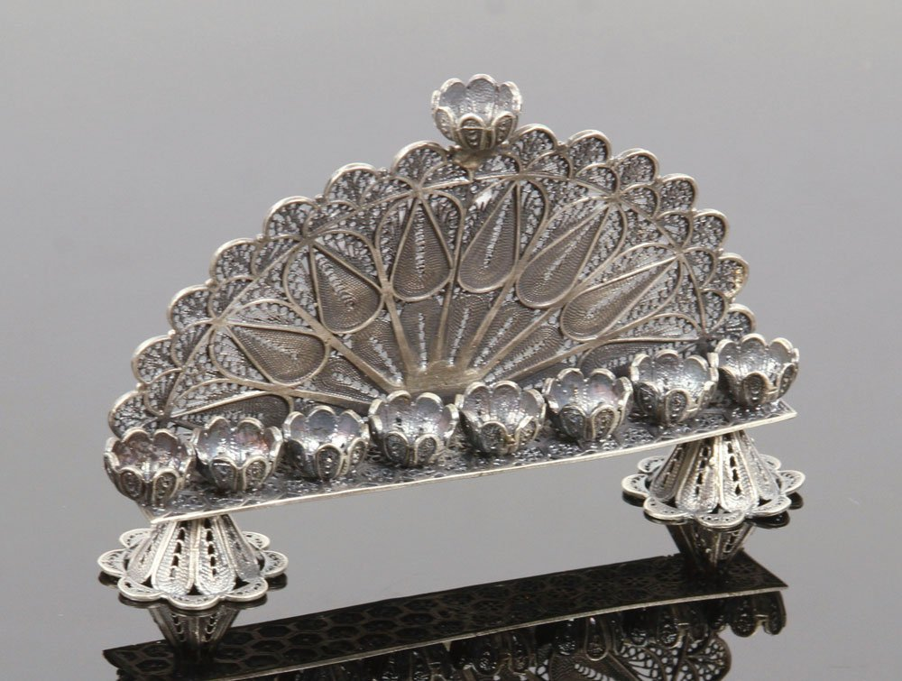 Russian Silver Menorah