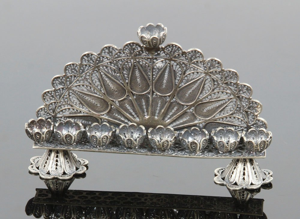 Russian Silver Menorah - 2
