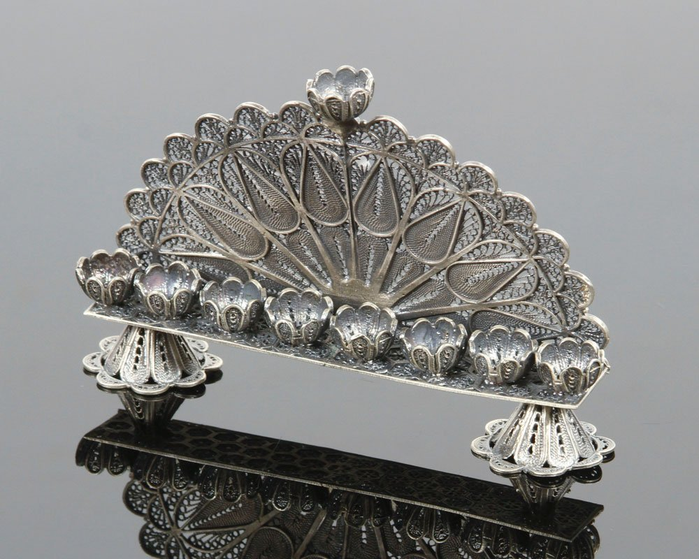 Russian Silver Menorah - 3
