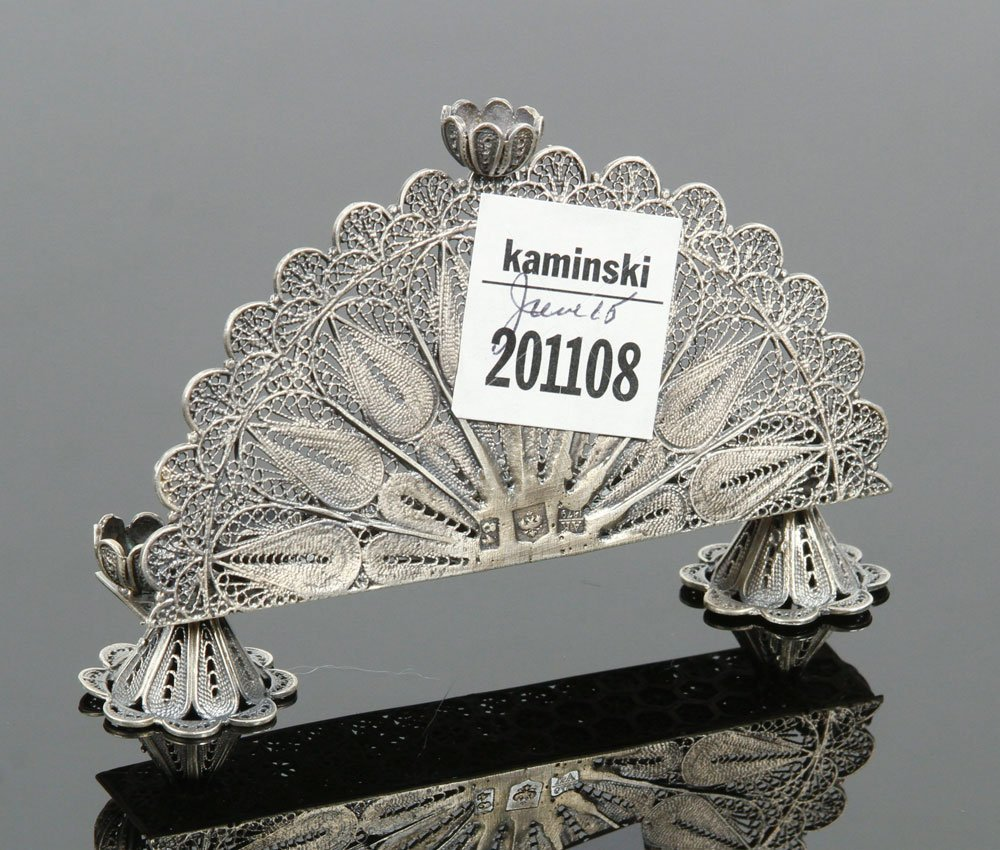 Russian Silver Menorah - 4
