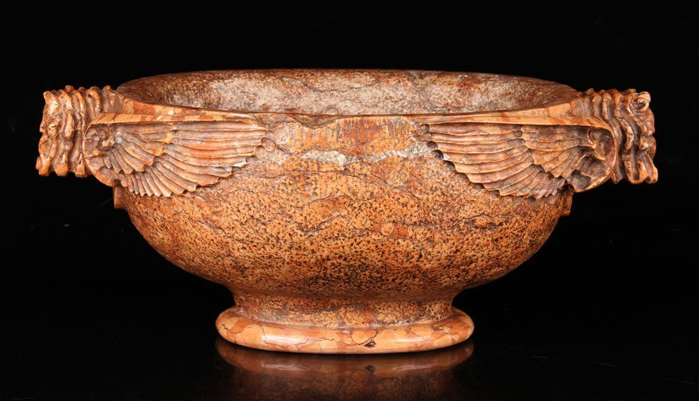 Ancient Carved Marble Vessel