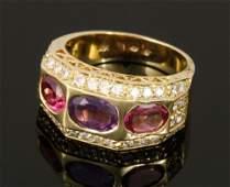 Ladies' Tourmaline and Diamond Ring