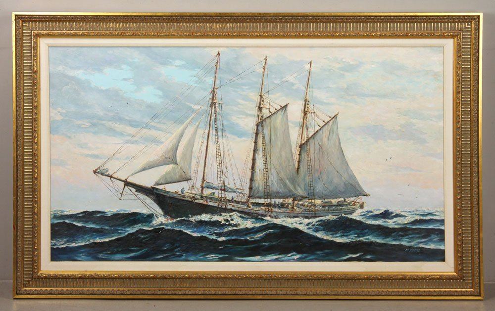 Yorke, Schooner, Oil on Canvas