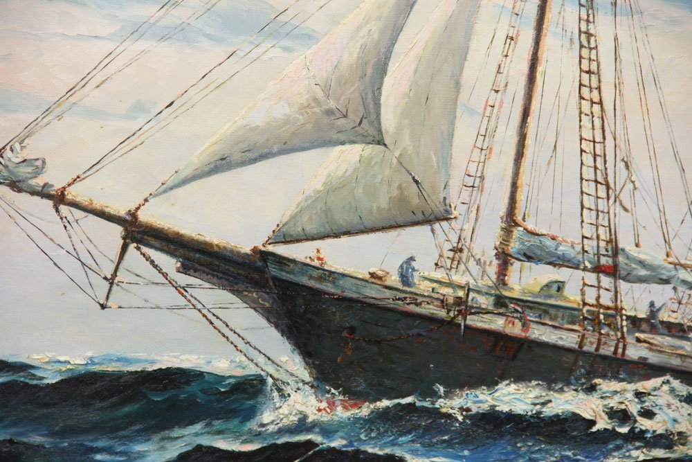 Yorke, Schooner, Oil on Canvas - 4