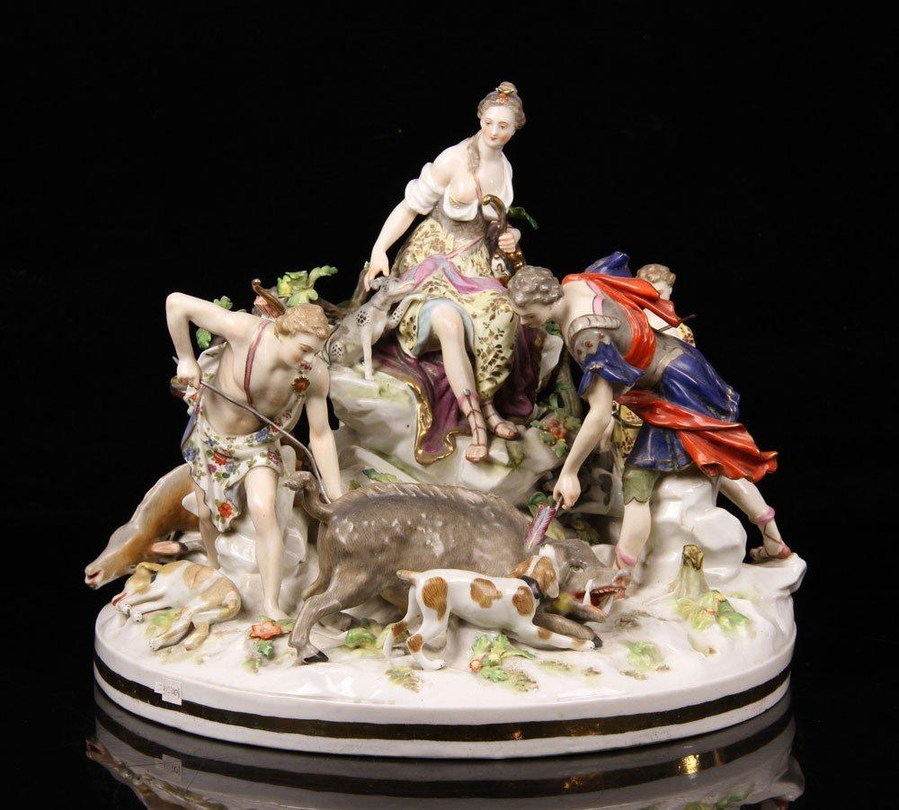 Large German Figural Porcelain Grouping