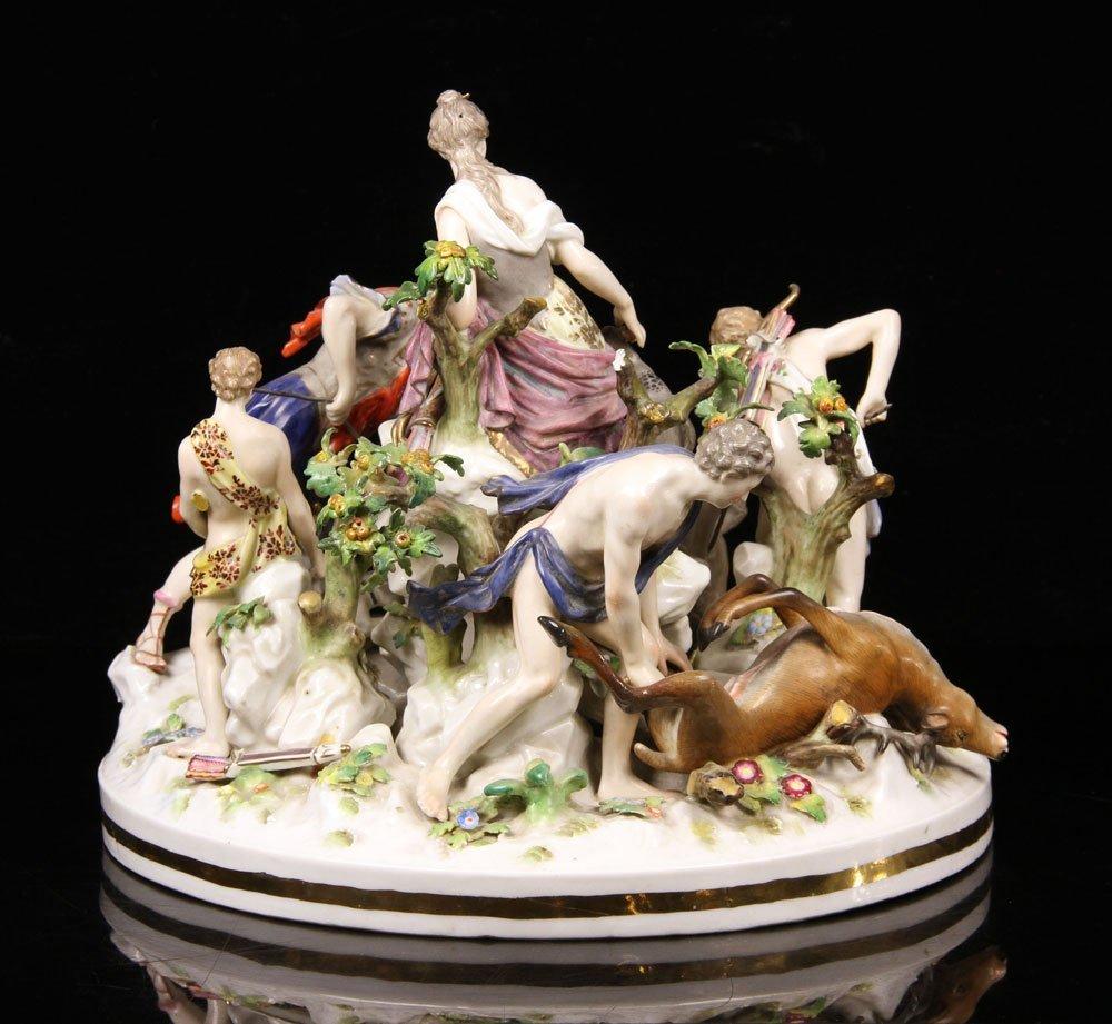 Large German Figural Porcelain Grouping - 2
