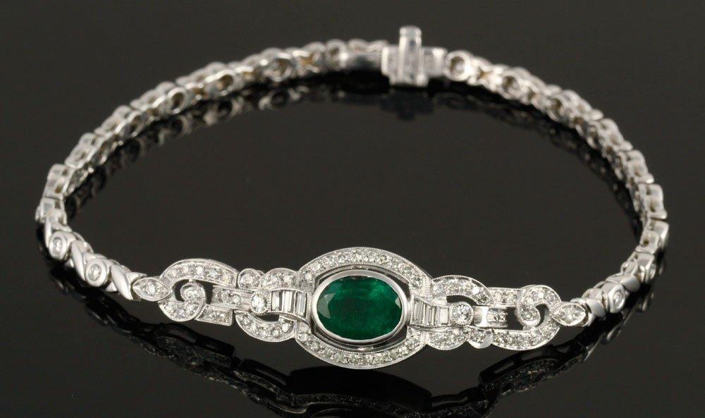 Ladies' Emerald and Diamond Bracelet - 2