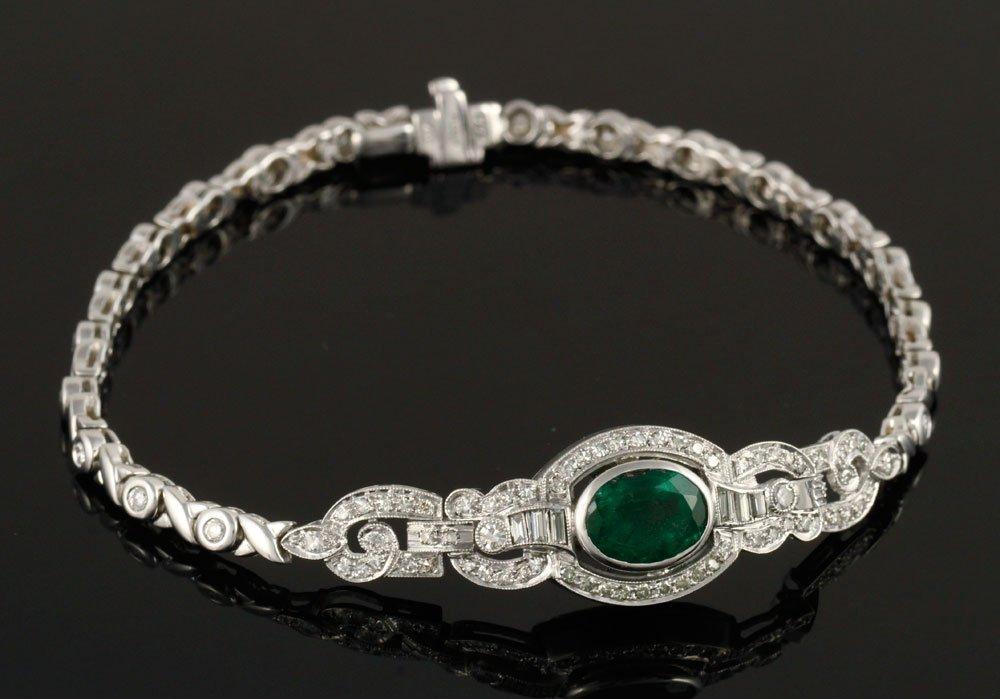 Ladies' Emerald and Diamond Bracelet - 3