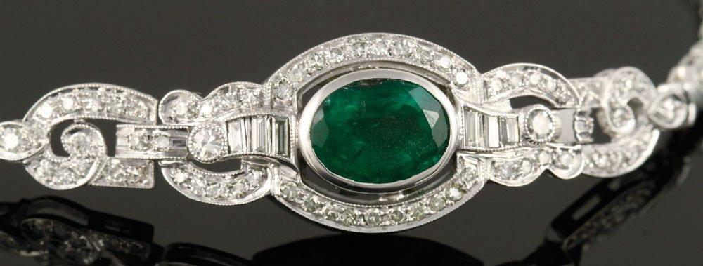 Ladies' Emerald and Diamond Bracelet - 4