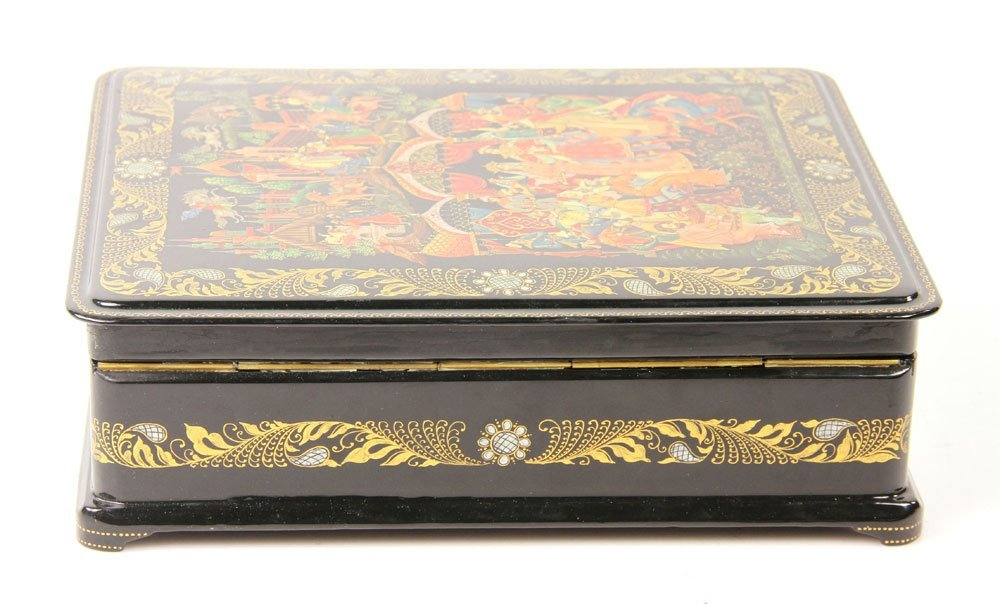 Russian Hand Painted Box - 3