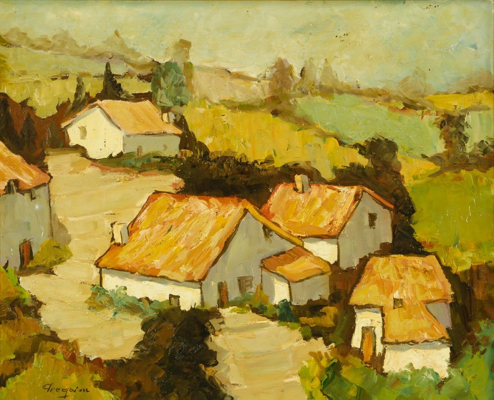 Boonzaier, South African Cottages, Oil on Canvas - 2