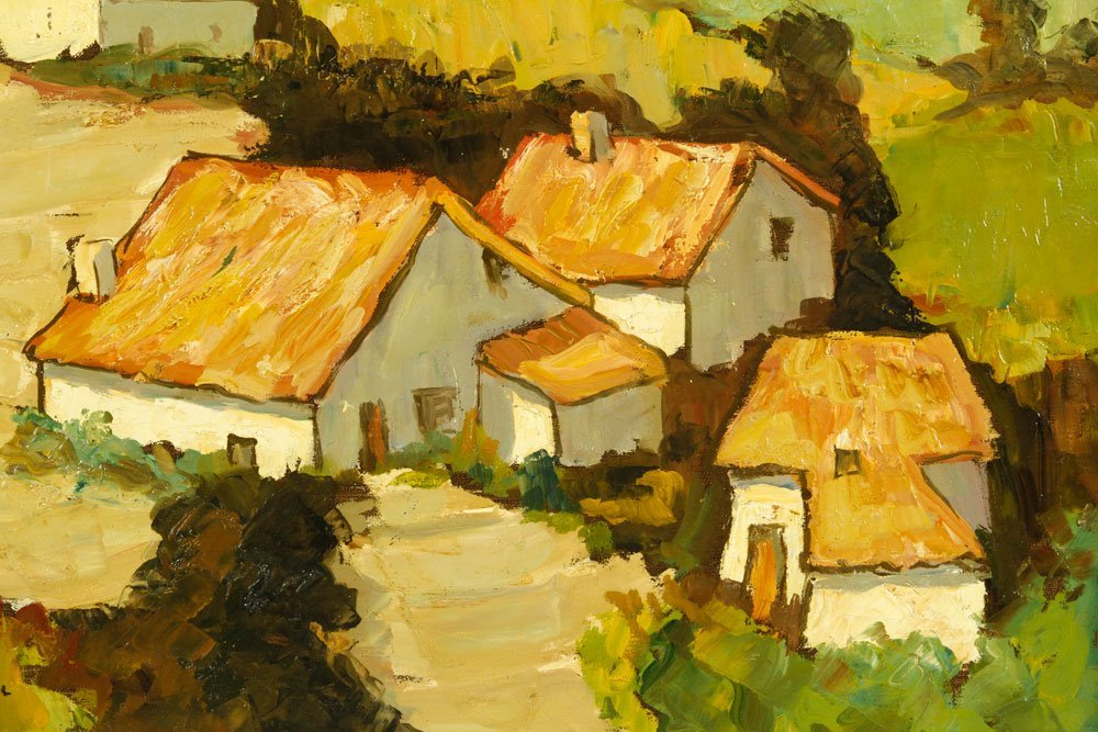 Boonzaier, South African Cottages, Oil on Canvas - 3