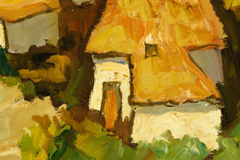 Boonzaier, South African Cottages, Oil on Canvas - 6