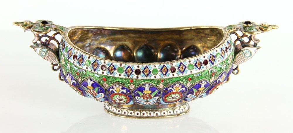 Russian Enamel Candy Bowl