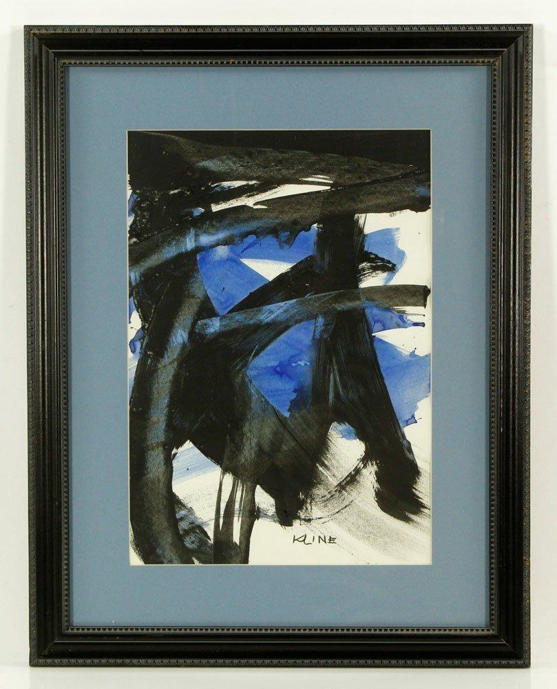 Attr. Kline, Abstract, Watercolor