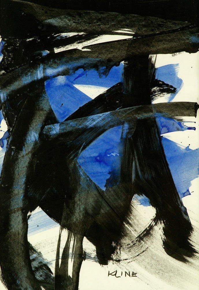 Attr. Kline, Abstract, Watercolor - 2