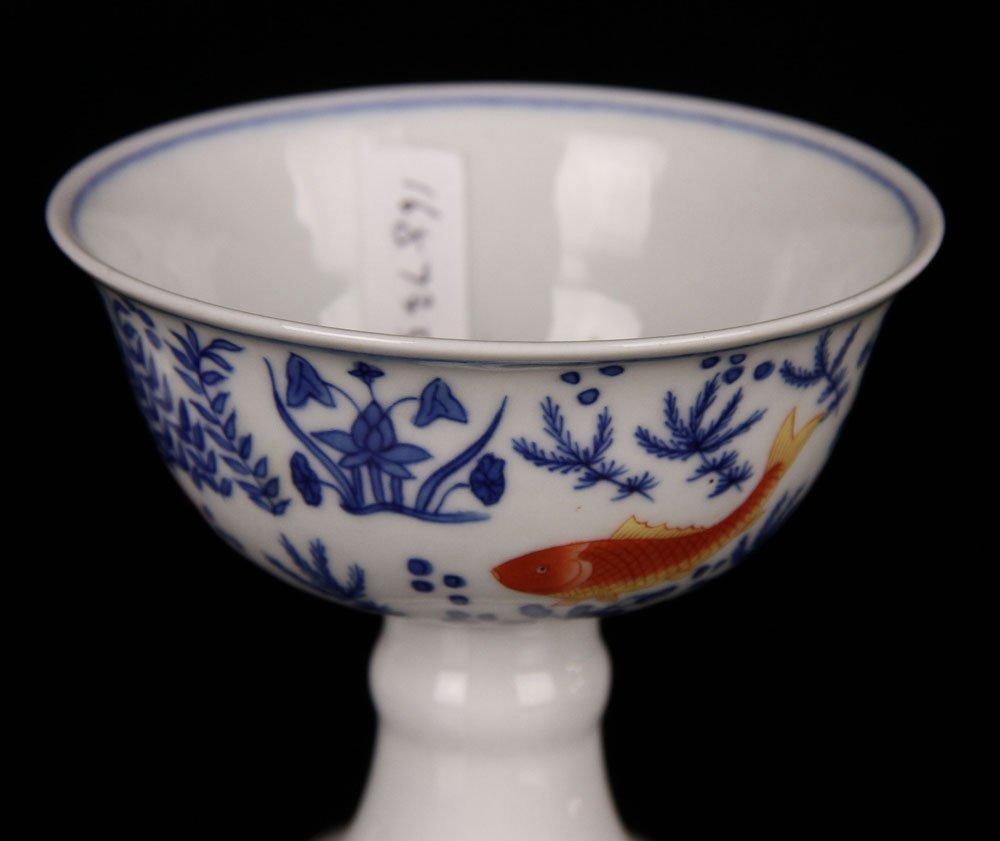 Two Jiajing High Foot Cups - 3