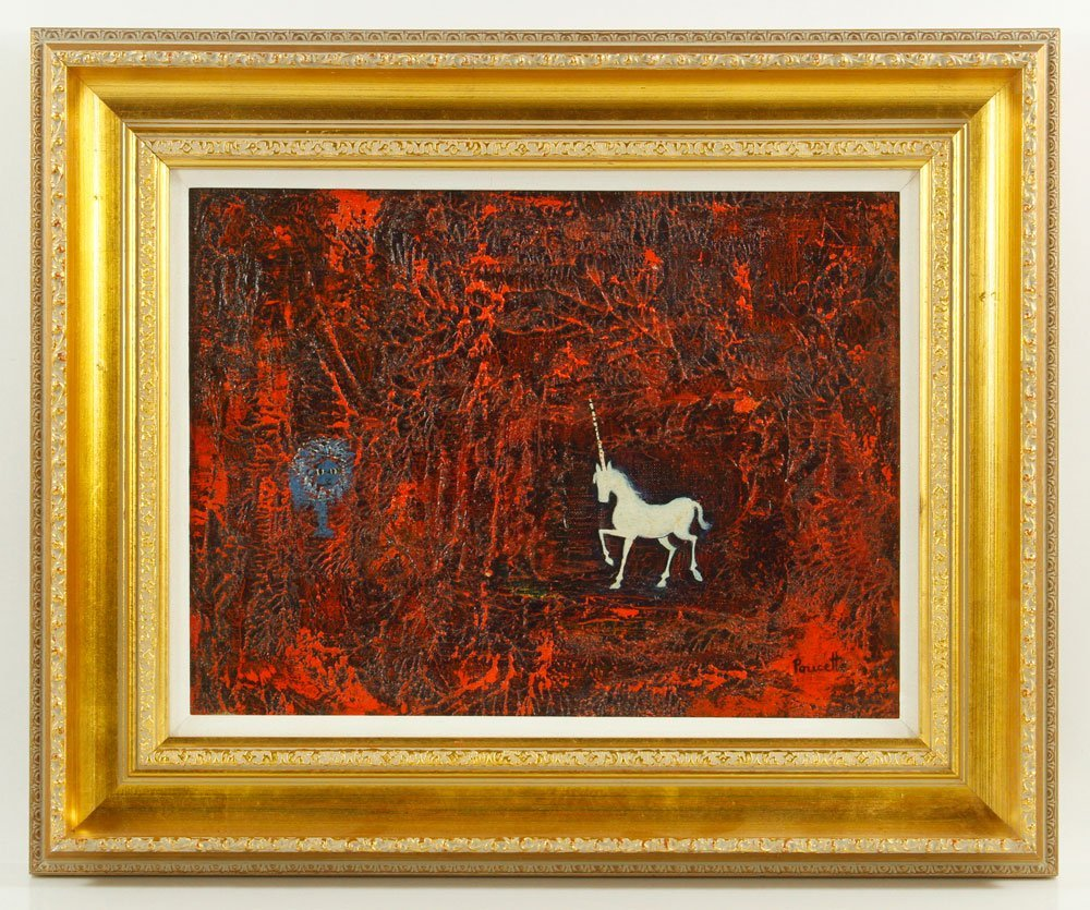 Poucette, La Lion, Oil on Canvas