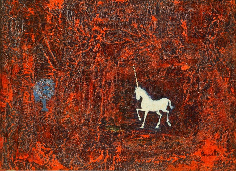 Poucette, La Lion, Oil on Canvas - 2