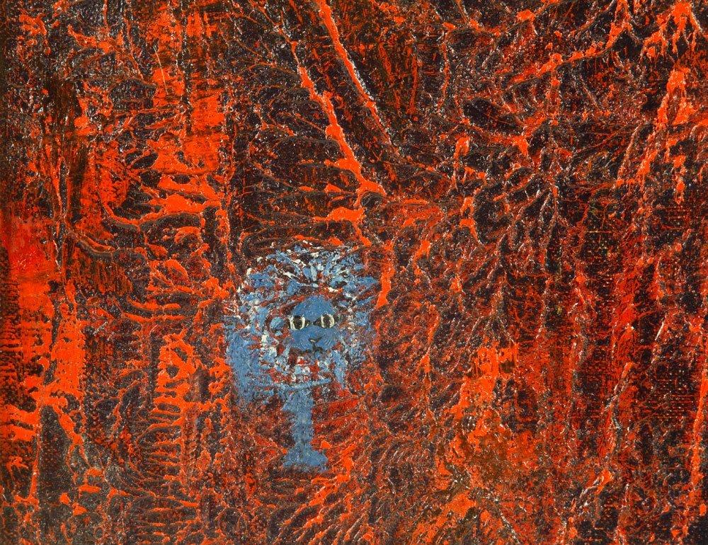 Poucette, La Lion, Oil on Canvas - 4
